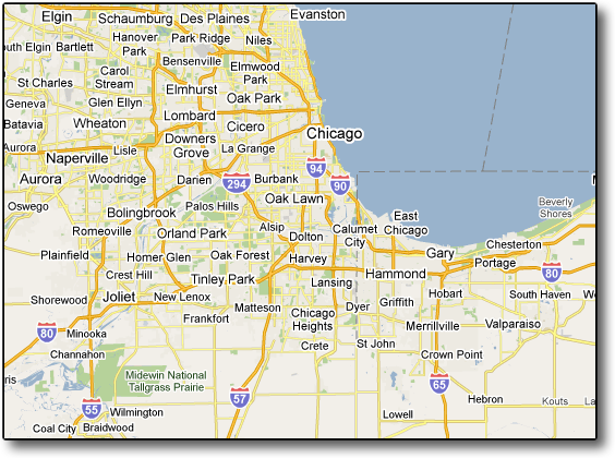 Excellent Map Of Illinois Suburbs Afputracom - Map of northern illinois